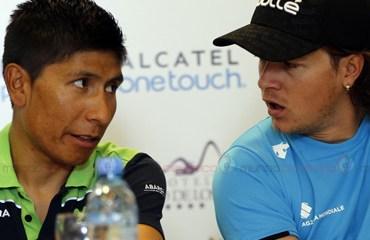 Los colombianos Nairo Quintana y Carlos Betancur son dos de los máximos favoritos al trono del Tour de San Luis 2015