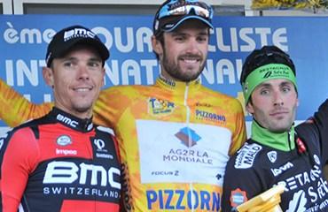 El podio final con Gastauer, Gilbert y Hibert (Foto©GilbertoChocce)