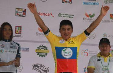 Jonathan Caicedo, primer líder Vuelta de la Juventud