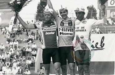 Fabio Parra hizo el podio en el Tour de Suiza 1987
