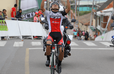 Oscar Pachón líder de la Vuelta a Cundinamarca