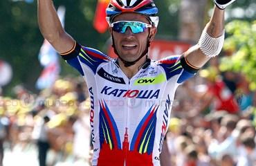 El catalán Purito Rodriguez se quedó con la victoria en el Muro de Huy, final de la 3a etapa del Tour 2015