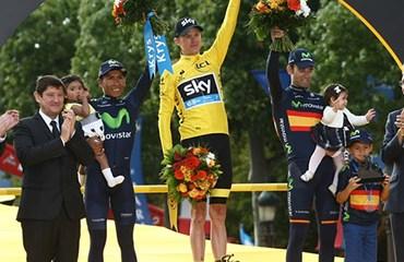 Nairo Quintana acumuló este domingo el segundo podio de Tour de Francia de su carrera