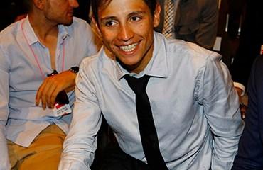 Chaves fue uno de los invitados de honor a la Presentación del Giro de Italia 2016
