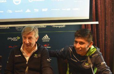 Alejandro Valverde, Inzua y Nairo Quintana, en rueda de prensa