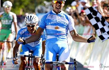 Nicolas Tivani ganador de la etapa de este viernes del Tour de San Luis