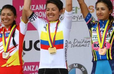 Luz Adriana Tovar se colgó la medalla de oro en el Gran Fondo Femenino