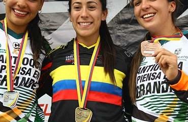 Mariana Pajón se colgó la medalla de oro en el Campeonato Nacional de BMX, Ubaté 2016