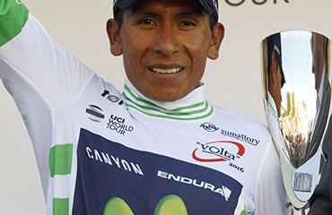 Quintana sostuvo la camiseta de líder de la Vuelta a Cataluña tras la 5ta etapa