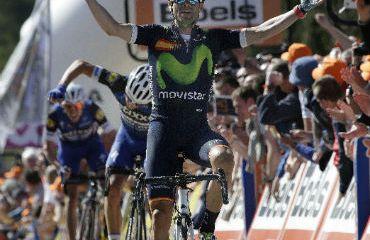 Alejandro Valverde obtuvo este miércoles su cuarto título de la Flecha Valona (FOTO Movistar)