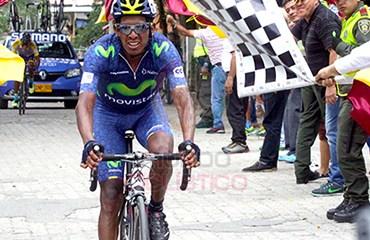 Oscar Soliz ganador de etapa y líder de Vuelta al Tolima