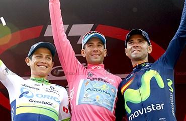 El podio final en Torino