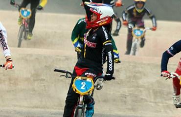 Valentina Velásquez, medalla de Oro en Mundial de BMX de Medellín (Foto©FCC)