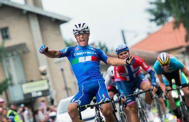 Vincenzo Albanese, primer líder del Tour del L'Avenir