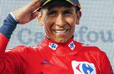 Quintana consiguió este sábado una histórica victoria en la Vuelta a España, la segunda de Colombia tras la de Lucho Herrera en 1987