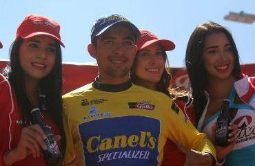 Román Villalobos de Costa Rica a una etapa del Bicampeonato de Vuelta a Guatem