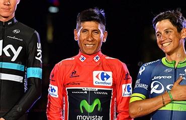 Nairo Quintana y Esteban Chaves fueron 3o y 5o en la votación final de la Bicicleta de Oro de la Revista francesa Veló