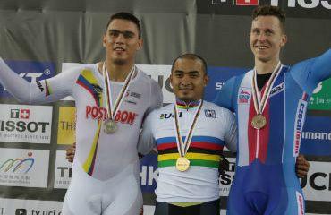 Fabián Puerta, medalla de plata en Mundial de Pista de Hong-Kong