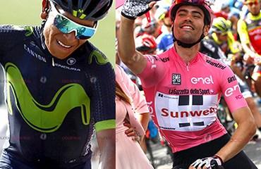 Dumoulin, Quintana y Nibali calientan los microfónos