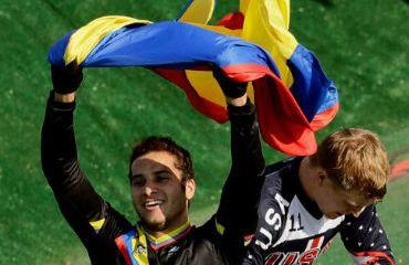 Carlos Ramírez, medalla de oro en el BMX de los Juegos Bolivarianos