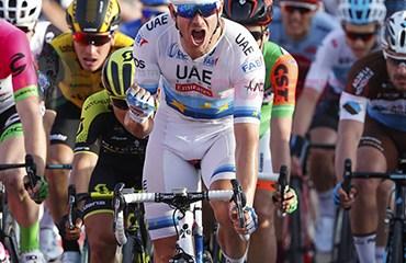 Alexander Kristoff ganador de primera etapa y líder del Abu Dhabi Tour