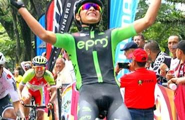 Andrés Ardila se impuso en la quinta etapa cerrando la barrida del EPM en la Vuelta al Tolima