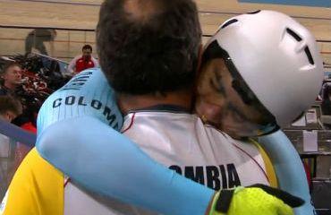 Fabian Puerta y John González en fuerte celebración