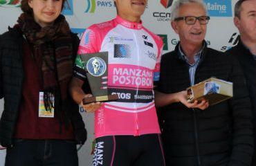 Felipe Osorio lider de la montaña de Circuit-Sarthe de Francia (Gilberto Chocce)