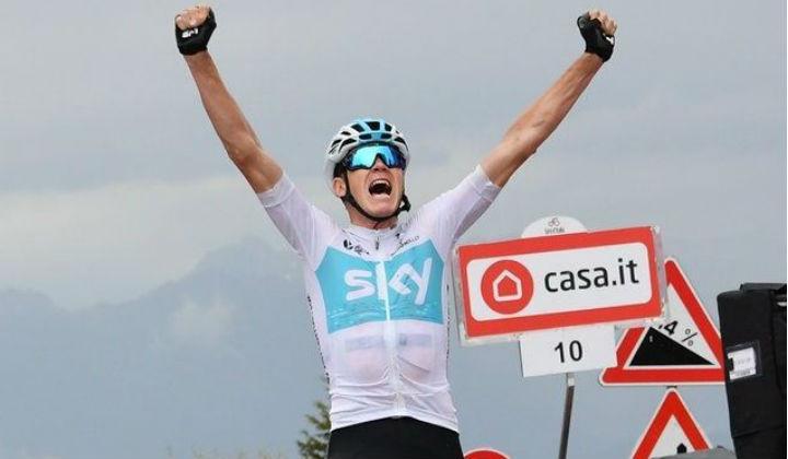Chris Froome en una gran exhibición ganó este su primera etapa en el Giro de Italia