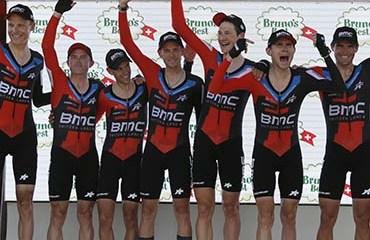 El BMC se llevó la CRE que abrió este sábado la Vuelta a Suiza