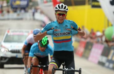 Cristian Camilo Muñoz ganador de etapa reina de Giro Sub-23 (Foto FCC)