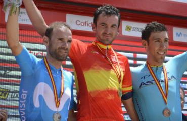 Gorka Izaguirre, campeón de ruta en España este domingo. Alejandro Valverde y Omar Fraile completaron podio