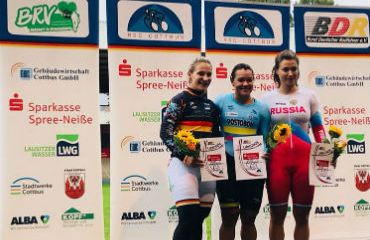 Martha Bayona venció a la 11 vences campeona del mundo la alemana Kristina Vogel