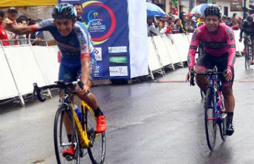 Steven Cuesta se impuso en la segunda etapa de Vuelta a Cundinamarca