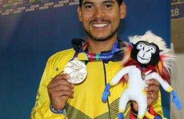 Edwin Avila, alcanzó el oro en el ómnium de los Juegos Centroamericanos (Foto Juegos centroamericanos)
