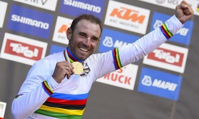 Alejandro Valverde estrenará su camiseta de Campeón Mundial en los Tres Valles Varesinos