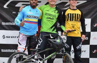 Carlos Oquendo, gran ganador en Torneo Nacional de BMX en Pereira (Foto GW Shimano)