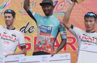 El sudafricano Clint Hendricks ganador de séptima etapa de Tour de Singkarak (Foto Tour Singkarak)