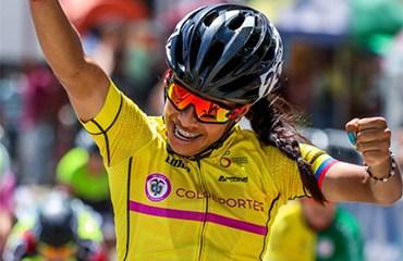 Erika Botero se alzó con seu segunda victoria general en la Vuelta del Futuro Femenina