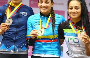 Katherin Montoya se impuso al sprint y es la nueva Campeona Nacional de la Categoría Elite