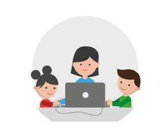 'ellos te enseñan'  los menores en el papel de orientadores de sus padres