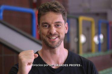 pau gasol celebra el día mundial de los profesores