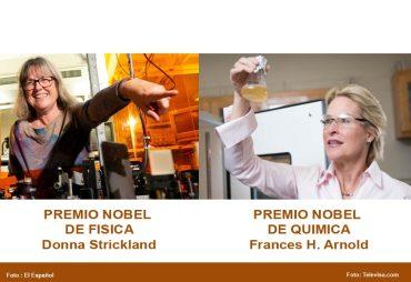 dos mujeres ganan por primera vez el nobel de física y el nobel de química en el mismo año