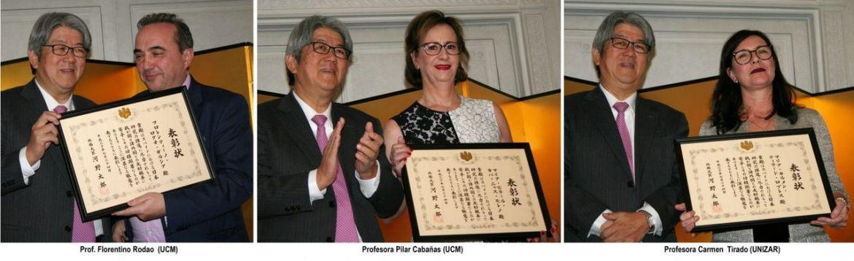 tres profesores españoles recibieron distinciÓn del gobierno de japÓn