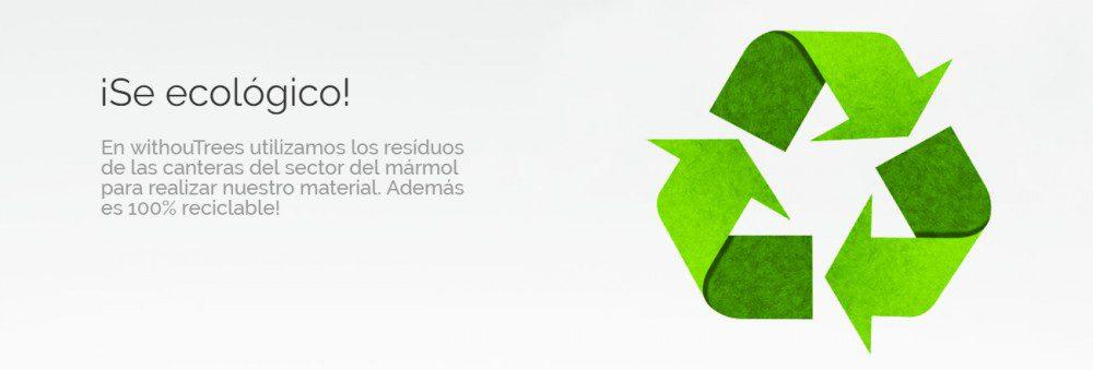 material adherible, reciclable y sin químicos