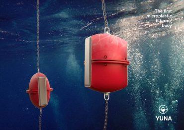 UPV , YUNA, la boya que filtra microplásticos