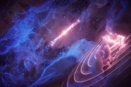 nube de gas cósmica late al ritmo de un agujero negro