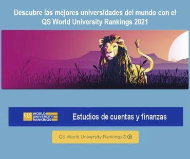 ranking qs, mejores universidades cuentas y finanzas