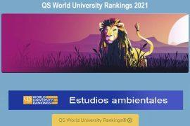 qs, mejores universidades del mundo: ciencias ambientales