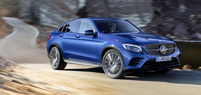 Mercedes-Benz GLC Coupé. Brilliantblau. Mercedes-Benz GLC Coupé. Brilliant blue
